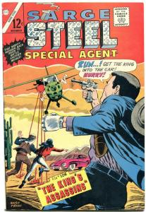 SARGE STEEL #6 1965-CHARLTONSPECIAL AGENT-JUDO-KARATE--fn