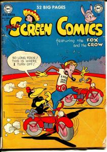 Real Screen #31 1950-DC-Fox & Crow-motorcycle daredevil cover-VG-