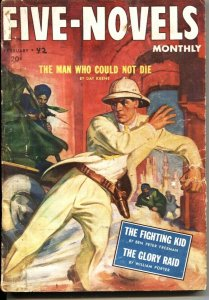 FIVE NOVELS MONTHLY-FEB 1942---ADVENTURE-PULP-DAY KEENE MYSTERY TALE