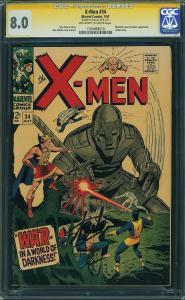 X-men #34 (Marvel, 1967) CGC SS 8.0 Stan Lee