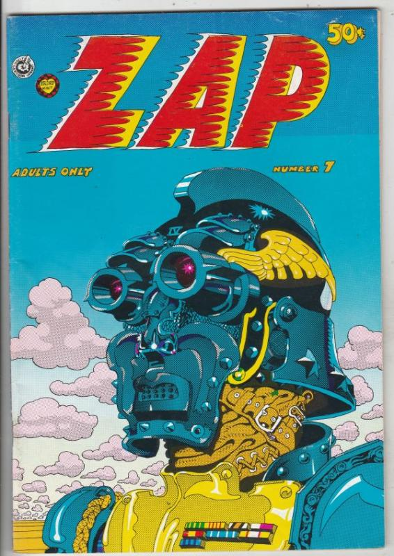 Zap #7 (Jan-74) VF High-Grade Fat Freddy and his cat, Checkred Demon, Mr. Nat...