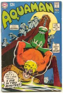 Aquaman #44 1969- bondage cover- DC comics VG