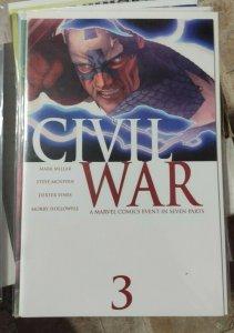 CIVIL WAR # 3 McNiven VARIANT 2006  MARVEL CAPTAIN AMERICA VS IRONMAN CHOOSE