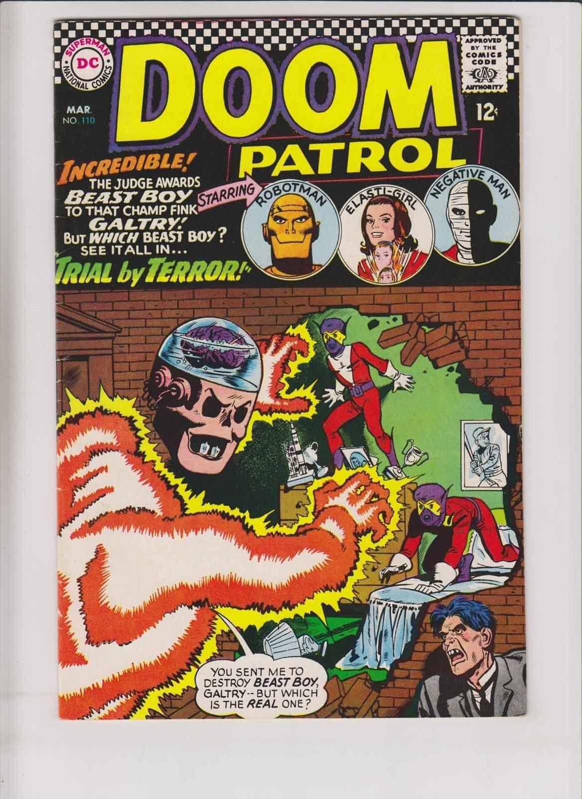 Doom Patrol 110 Fn March 1967 Beast Boy Robotman Silver Age