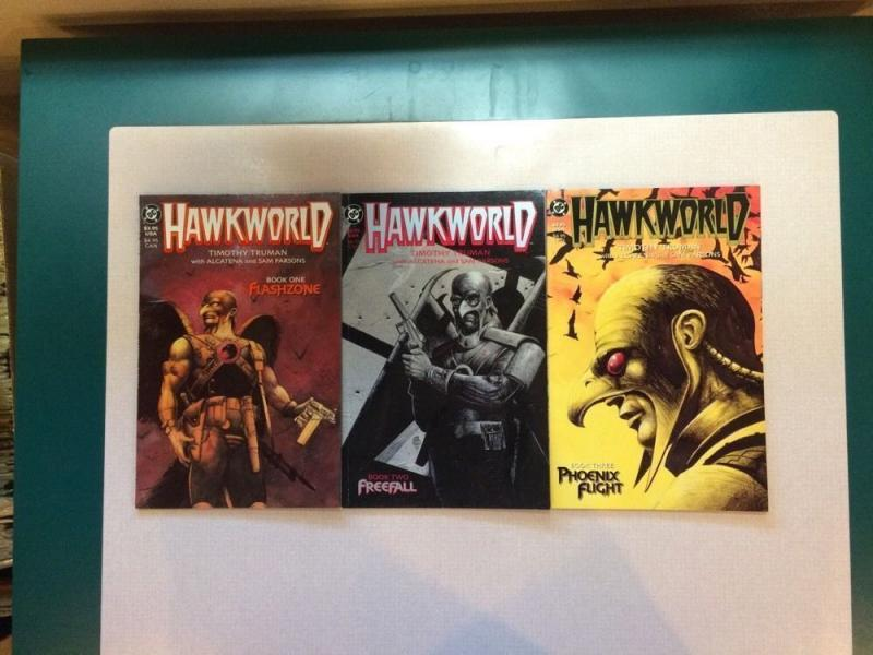 Hawkworld 1-3 Full Run Mini Series Flashzone Freefall Phoenix Flight