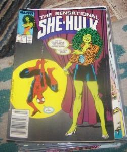 The Sensational She-Hulk # 3 jul 1989, Marvel JEN WALTERS   GREEN  spiderman