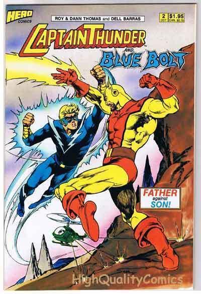 CAPTAIN THUNDER & BLUE BOLT #2, VF/NM, Roy Thomas,1987