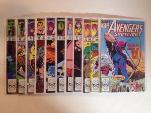 Avengers Spotlight 21-40 Missing 31 32 34-40 Near Mint Lot Set Run