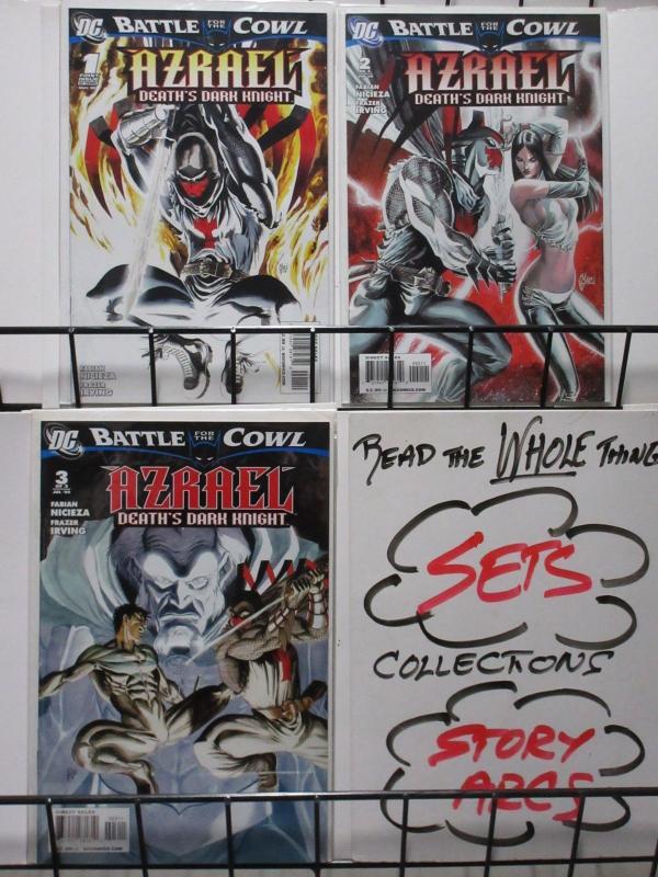 AZRAEL: DEATH'S DARK KNIGHT (DC, 2009) #1-3 VF-NM COMPLETE Nightwing! Nicieza!