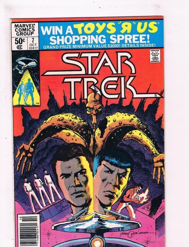 Star Trek # 7 VF Marvel Comic Books Captain Kirk Spock TV Series Tom Defalco SW9