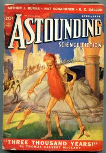 Astounding Pulp April 1938- Science Fiction- Wild Red Beard Menace cover