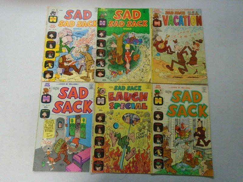 Bronze Age Sad Sack lot 18 different avg 4.0 VG (Harvey Comics)