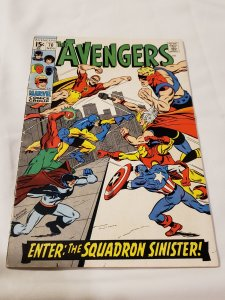 Avengers 70 GD/VG  Cover by Sal Buscema