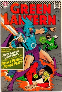 GREEN LANTERN #45 Vol.2 (June 1966) 7.5 VF-  Gil Kane! Allan Scott Appearance!