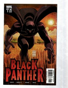 Lot Of 12 Black Panther Marvel Comic Books # 1 1 2 3 3 4 5 6 7 8 9 10 RB27
