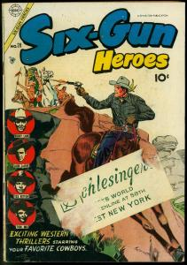 SIX-GUN HEROES #28 1954 TOM MIX BEGINS LASH LARUE ROCKY VG-