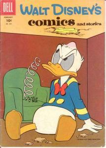 WALT DISNEYS COMICS & STORIES 209 VG  February 1958 COMICS BOOK