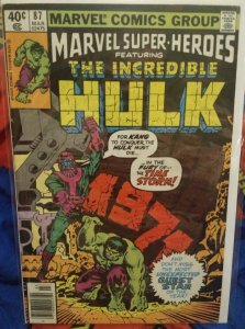 Marvel Super Heroes Featuring The Incredible Hulk #87 FN
