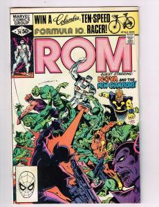 Rom #24 VF Marvel Comics Comic Book Buscema The New Champions Nova Nov 1981 DE42