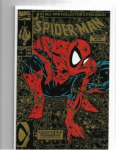 Spider-Man #1 Gold 1990 Variant Torment McFarlane Cover NM/NM+