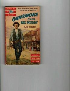 3 Books Gunsmoke Over Big Muddy Leashed Guns Ramrod Western Murder Mystery JK8