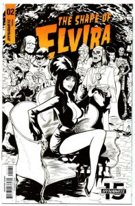 The Shape of ELVIRA #2 G, NM-, Dynamite, 2019, more indies in store, Acosta cove
