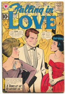 Falling in Love #47 1961- DC Romance- Tense cover VG