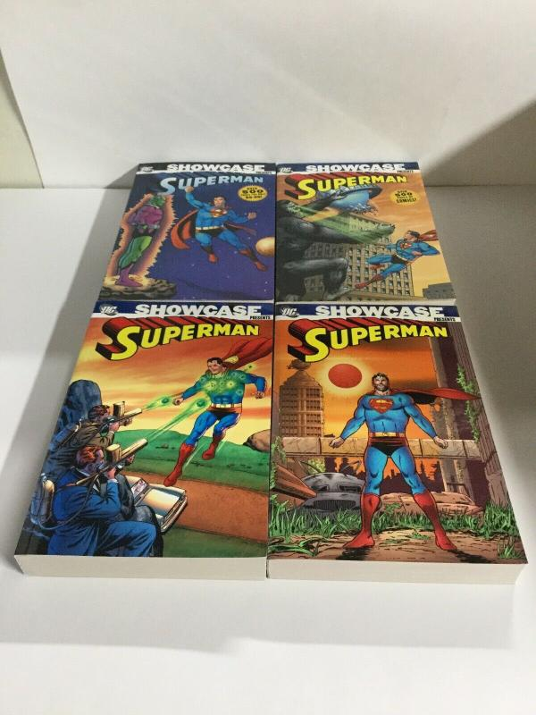 Showcase Presents Superman Volume 1 2 3 4 TPB Lot Nm Near Mint DC Comics sc