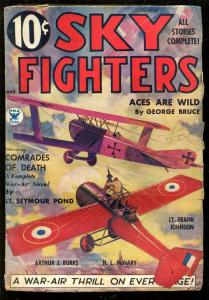 SKY FIGHTERS 3/1935-AIR WAR PULPS-WWI-BI-PLANE-good/vg