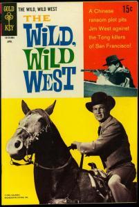 The Wild Wild West #5 1969- Gold Key TV Western Robert Conrad VG