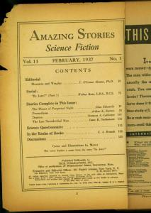 Amazing Stories Pulp February 1937- By Jove Walter Rose- Reading copy