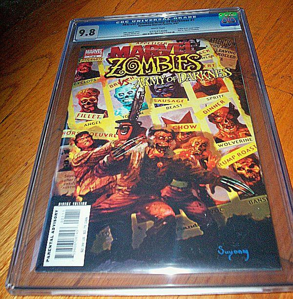 Mavel Zombies CGC #1 (7-May) NM/MT Super-High-Grade X-Men, Army of Darkness