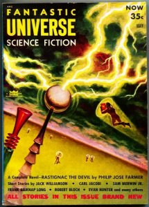 FANTASTIC UNIVERSE SCIENCE FICTION-May 1954-Pulp-FARMER--DICK--MATHESON-JACOBI