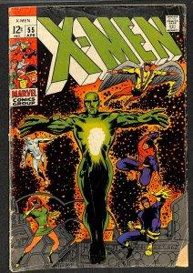 X-Men #55 VG- 3.5 2nd Havok! Living Pharoah! Marvel Comics