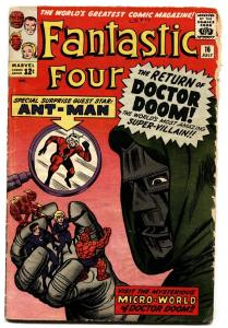 Fantastic Four #16 1963 Doctor Doom - 1st Ant-man Crossover- Marvel  G/VG