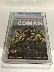 Savage Sword Of Conan 1 CGC 9.8 OW/W Pages Magazine Marvel Comics