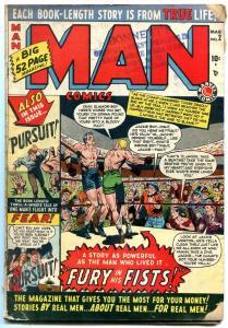 Man Comics #2 1950-Tuska cover- Boxing- Marvel Golden Age G/VG