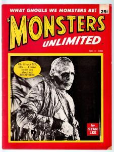 MONSTERS UNLIMITED #5-STAN LEE-MARVEL COMICS-MONSTER MAGAZINE-1965-VG-RARE  VG