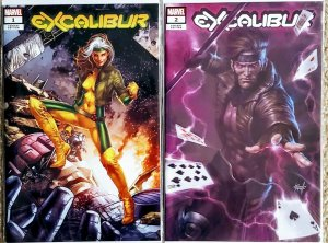 EXCALIBUR #1 & #2  - JAY ANACLETO EXCLUSIVE VARIANT - Marvel Comics