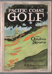 Pacific Coast Golf  #2 8/1912-early golf magazine-2nd issue-100+ years old-VG