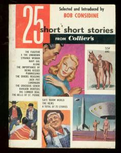 25 SHORT STORIES #1 '53-FLYING SAUCER-ROCKET COVER-PULP FN
