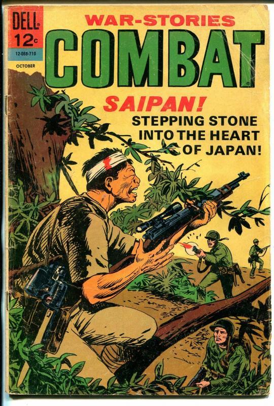 Combat #26 1967-Dell-WWII battle issue-Saipan!-Sam Glanzman-VG-
