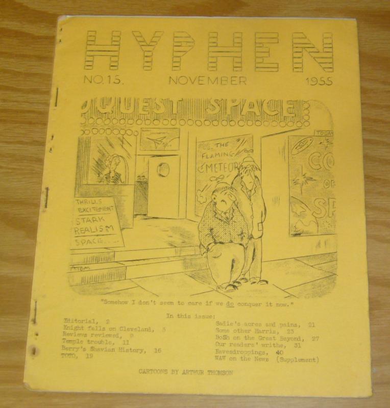 Hyphen #15 VG november 1955 - damon knight - chuck harris - irish sci fi fanzine