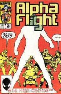 ALPHA FLIGHT (1983 Series)  #25 Very Fine Comics Book