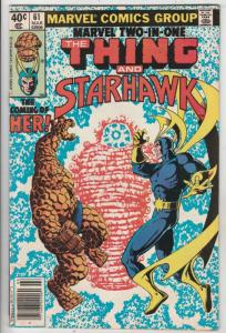 Marvel Two-In-One #61 (Mar-80) VF+ High-Grade The Thing