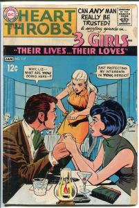 HEART THROBS #117 1968 DC-TORRID ROMANCE-GREAT-NICE ISS G