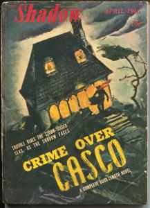 Shadow 4/1946-Street & Smith-Crime Over Casco-hero pulp-VG