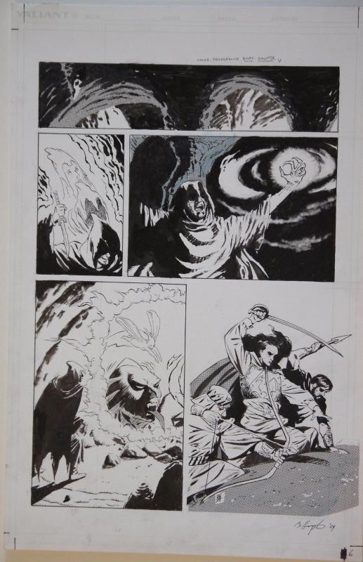 BO HAMPTON original art, MAGIC the GATHERING SHANDALAR #2, 1996, 11x17, Valiant