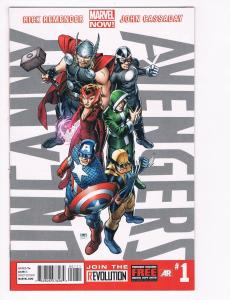 Uncanny Avengers # 1 NM Marvel Now Comic Book Thor Captain America Wolverine S80