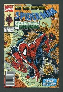 Spiderman #6 (Todd McFarlane / Newsstand)  9.6 NM+   January 1991